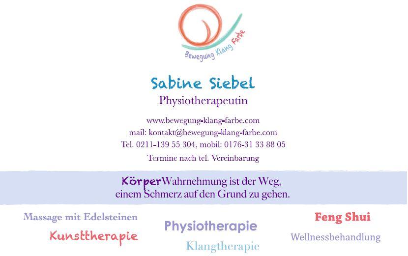 Bewegung - Klang - Farbe // Sabine Siebel Privatpraxis für ...